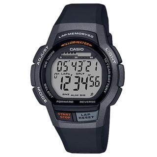 【CASIO 卡西歐】運動電子男錶 橡膠錶帶 黑色 十年電力 防水100米(WS-1000H-1A)  CASIO 卡西歐