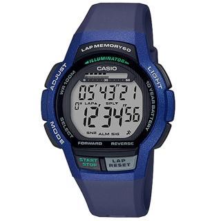 【CASIO 卡西歐】運動電子男錶 橡膠錶帶 藍色 十年電力 防水100米(WS-1000H-2A)真心推薦  CASIO 卡西歐