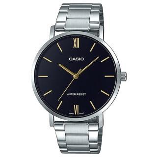 【CASIO 卡西歐】簡約丁字時尚男錶 不鏽鋼錶帶 黑色錶面 日常生活防水(MTP-VT01D-1B)好評推薦  CASIO 卡西歐