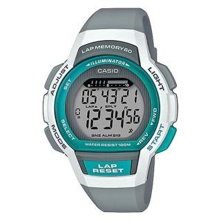 【CASIO 卡西歐】運動電子女錶 橡膠錶帶 白X灰 防水100 米(LWS-1000H-8A)  CASIO 卡西歐
