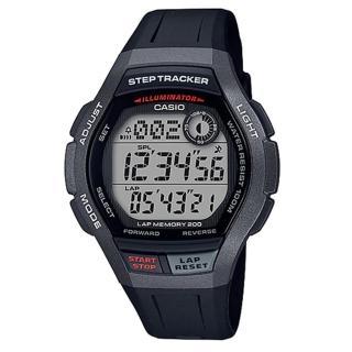 【CASIO 卡西歐】運動電子男錶 橡膠錶帶 黑色 計步器 防水100米(WS-2000H-1A)  CASIO 卡西歐