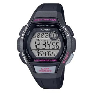 【CASIO 卡西歐】運動電子女錶 橡膠錶帶 黑 防水100米 計步器(LWS-2000H-1A)推薦折扣  CASIO 卡西歐