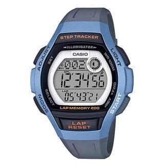 【CASIO 卡西歐】運動電子女錶 橡膠錶帶 藍 防水100米 計步器(LWS-2000H-2A)  CASIO 卡西歐