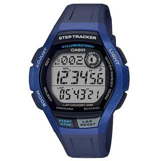 【CASIO 卡西歐】運動電子男錶 橡膠錶帶 藍色 計步器 防水100米(WS-2000H-2A) 推薦  CASIO 卡西歐
