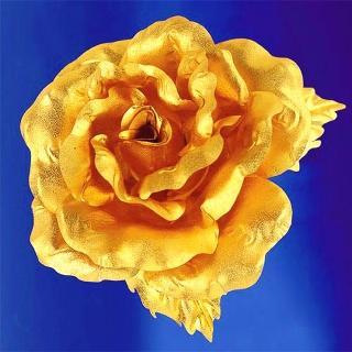 【開運陶源】黃金金箔花 純金 玫瑰 胸針(情人節/母親節禮物)好評推薦  開運陶源