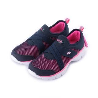 【LOTTO】22.5-25 cm 女鞋 EASYWEAR 樂活輕跑鞋 深藍(LT5886)好評推薦  LOTTO