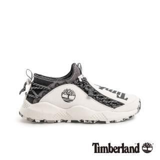 【Timberland】男款NNH白色織物運動鞋(A1USX100)  Timberland
