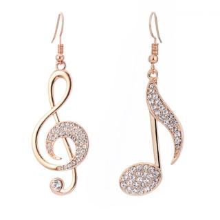 【RJ New York】交響樂章音符水鑽不對稱耳環(3色可選)  RJ New York
