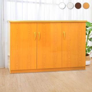 【Bernice】4.2尺三門防水塑鋼收納櫃/置物櫃(四色可選)  Bernice
