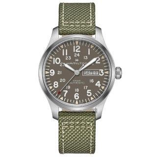 【HAMILTON 漢米爾頓】KHAKI FIELD 卡其野戰軍風機械錶(H70535081)  HAMILTON 漢米爾頓