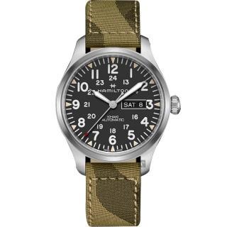 【HAMILTON 漢米爾頓】KHAKI FIELD 卡其野戰迷彩機械錶(H70535031)  HAMILTON 漢米爾頓