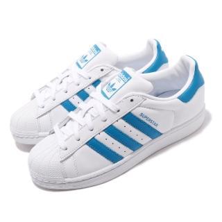 【adidas 愛迪達】休閒鞋 Superstar 低筒 穿搭 女鞋 愛迪達 經典款 貝殼頭 球鞋 簡約 白 藍(G54739)好評推薦  adidas 愛迪達