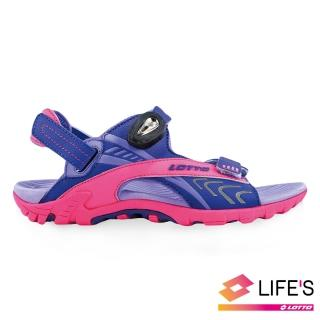 【LOTTO】童 排水磁扣涼鞋(紫-LT9AKS0507)好評推薦  LOTTO