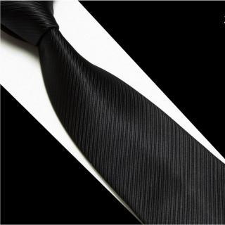 【拉福】黑色斜紋領帶8cm寬版領帶拉鍊領帶(黑)  拉福