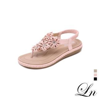 【LN】現+預 甜美鏤空花朵夾腳鞋(平底鞋 夾腳鞋)推薦折扣  LN
