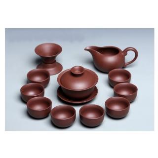 【原藝坊】禪心紅紫砂三才蓋碗功夫茶具 套裝組  原藝坊