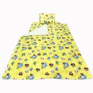 【17mall】波力POLY 三件式睡墊 涼被 童枕 - 黃色(波力POLY 睡墊 涼被 枕頭 兒童睡墊)  17mall