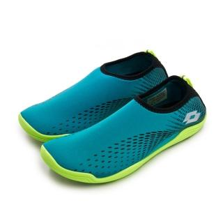 【LOTTO】男 多用途戶外休閒運動溯溪機能水鞋 AQUWEAR系列(藍綠 0395 附收納袋)  LOTTO