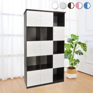 【Bernice】3.3尺八門開放式防水塑鋼收納櫃/置物櫃(五色可選)  Bernice