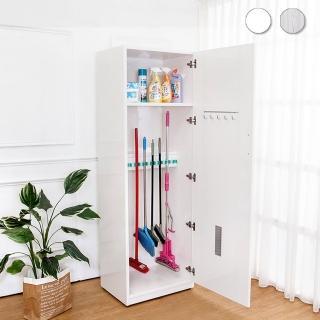 【Bernice】2.1尺一門防水塑鋼學校掃具收納櫃/置物櫃(兩色可選) 推薦  Bernice