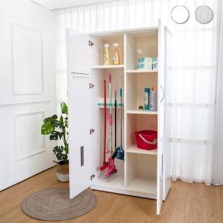 【Bernice】3.1尺二門防水塑鋼學校掃具收納櫃/置物櫃(兩色可選) 推薦  Bernice