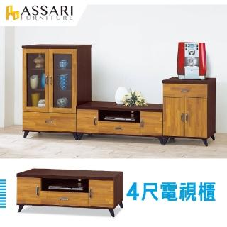 【ASSARI】威爾森4尺電視櫃(寬120x深40x高45cm) 推薦  ASSARI