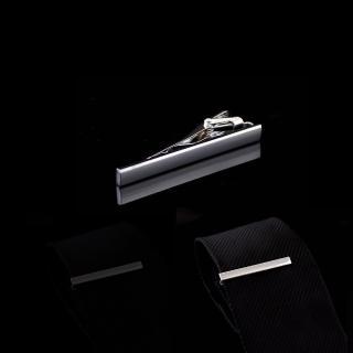 【拉福】領帶夾素面銀領帶夾領夾(5.5cm 銀)  拉福