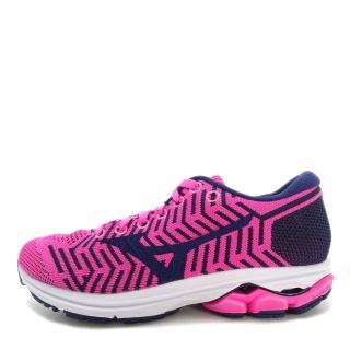 【MIZUNO 美津濃】Mizuno Waveknit R2 女鞋 運動 慢跑 避震 耐磨 舒適 美津濃 粉紅 藍(J1GD182911)  MIZUNO 美津濃