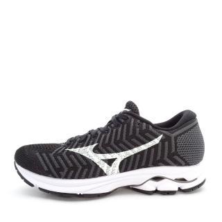 【MIZUNO 美津濃】Mizuno Waveknit R 1 女鞋 運動 慢跑 避震 耐磨 舒適 美津濃 黑白(J1GD182402)  MIZUNO 美津濃