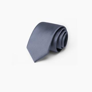 【拉福】領帶中窄版6cm手打領帶(細斜紋 中灰)  拉福