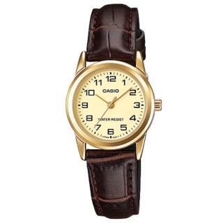 【CASIO 卡西歐】經典淑女時尚金數字指針腕錶-金面(LTP-V001GL-9B)  CASIO 卡西歐