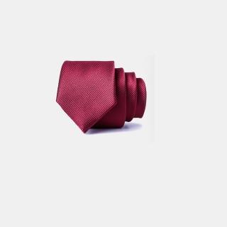 【拉福】領帶中窄版6cm拉鍊領帶(兒童細斜紋 暗紅)好評推薦  拉福