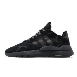 【adidas 愛迪達】NITE JOGGER 黑 反光 黑武士 男鞋(BD7954) 推薦  adidas 愛迪達