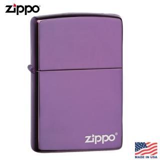 【Zippo】美系 深紫商標-PVD浸染雷雕防風打火機#24747ZL推薦折扣  Zippo