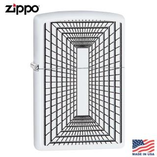 【Zippo】美系 迴廊-磨砂白防風打火機#29916  Zippo
