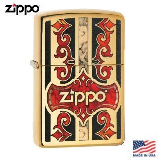 【Zippo】美系 藤蔓之盾-雷雕防風打火機#29510  Zippo