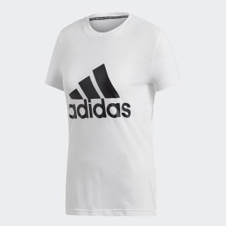 【adidas 愛迪達】T恤 W MH BOS Tee 女款 愛迪達 運動休閒 基本百搭款 圓領 舒適 白 黑(DZ0013) 推薦  adidas 愛迪達