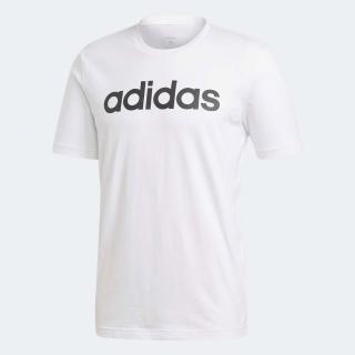 【adidas 愛迪達】T恤 E Lin Tee 運動休閒 男款 愛迪達 路跑 健身 重訓 基本百搭款 白 黑(DQ3056) 推薦  adidas 愛迪達