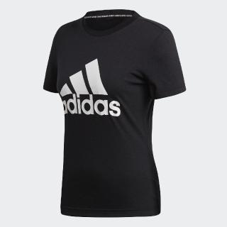 【adidas 愛迪達】T恤 W MH BOS Tee 女款 愛迪達 運動休閒 基本百搭款 圓領 舒適 黑 白(DY7732)好評推薦  adidas 愛迪達