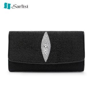 【Sarlisi】簡約珍珠魚長款錢包原創女包手拿包三折長夾(歷史最低價 買到賺到)  Sarlisi