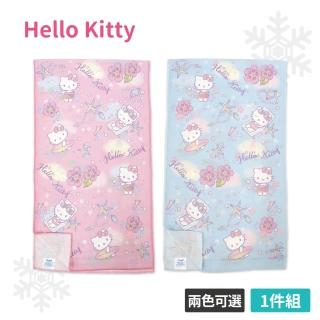 【SANRIO 三麗鷗】Hello Kitty 涼感運動巾(粉/藍 30x100cm)  SANRIO 三麗鷗