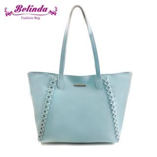 【Belinda】喬安娜素面鎖縫設計手提肩背包(四色)  Belinda