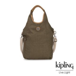 【KIPLING】城市探索橄欖綠肩背側背包-URBANA-EDGELAND系列  KIPLING