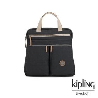 【KIPLING】城市探索霧灰前雙拉鍊手提後背兩用包-KOMORI S-EDGELAND系列  KIPLING