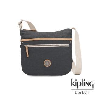 【KIPLING】城市探索霧灰前拉鍊側背包-ARTO-EDGELAND系列  KIPLING