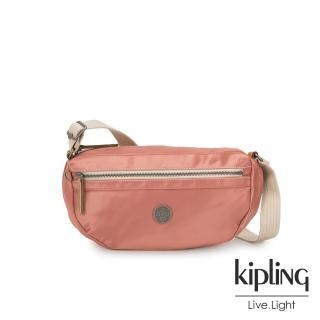 【KIPLING】城市探索玫瑰粉半月側背腰包-SENRA-EDGELAND系列評價推薦  KIPLING
