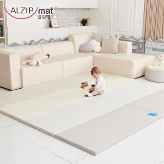 【Alzipmat】韓國手工製 時尚經典四折折疊墊 -(經典時尚灰)  Alzipmat