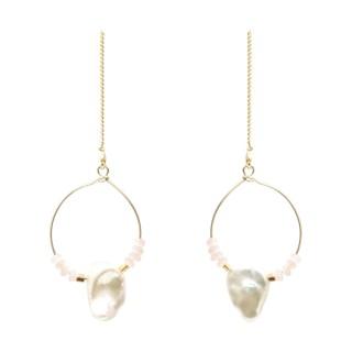【Prisme】美國時尚飾品 搖曳珊瑚海 金色耳環(YB-EG001)  Prisme