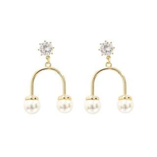 【Prisme】美國時尚飾品 珍藏永恆 金色耳環(YB-EG004)品牌優惠  Prisme