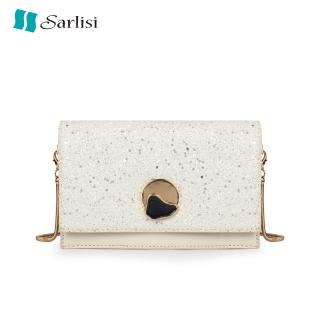 【Sarlisi】新款夏季上新亮片小方包鏈條單肩斜挎小香風星空女包  Sarlisi